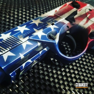 Cerakoted American Flag Beretta Px4 Storm