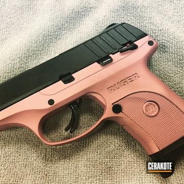 Cerakoted Two Tone Ruger Handgun In H-327