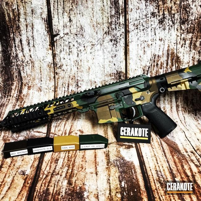 Cerakoted: S.H.O.T,Aero Precision,AR Pistol,MultiCam,Graphite Black H-146,Ral 8000 H-8000,Tactical Rifle,Midnight Bronze H-294,Jesse James Eastern Front Green H-400