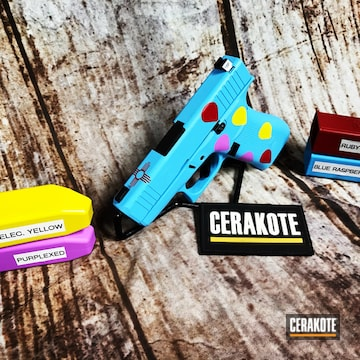Cerakoted Custom Glock 43x In H-166, H-306, H-329 And H-332