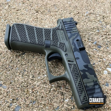 Cerakoted Custom Glock 43x In Black Multicam