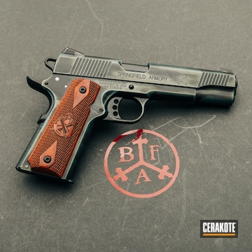Cerakoted Springfield 1911 A1 In H-315 And H-190