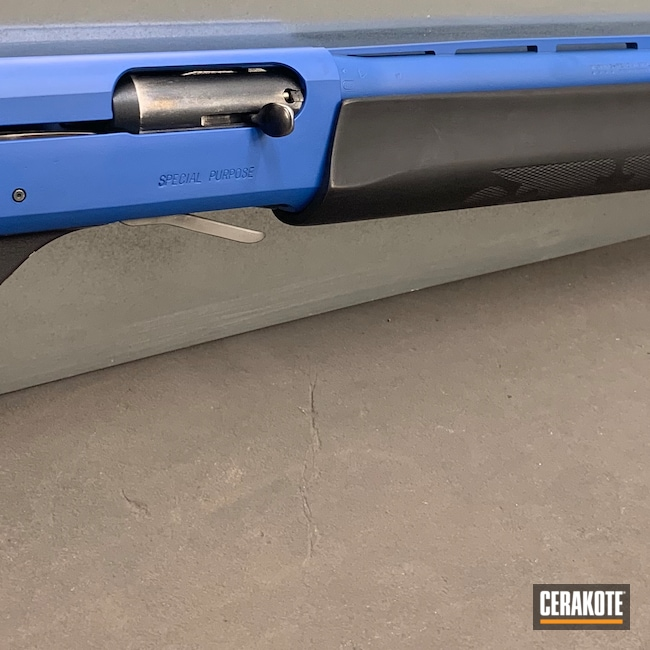 Cerakoted: S.H.O.T,NRA Blue H-171,Shotgun,Two Tone,11-87,12 Gauge,Remington