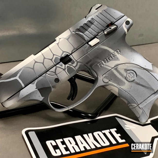 Cerakoted: S.H.O.T,9mm,Sniper Grey H-234,Kryptek,Ruger,Snow White H-136,LC9S,Armor Black H-190,Pistol