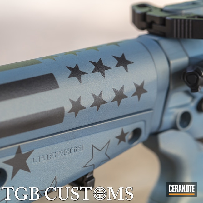 Cerakoted: S.H.O.T,Betsy Ross,Gloss Black H-109,NORTHERN LIGHTS H-315,Tactical Rifle,American Flag,Fortis,Custom Built,Fortis MFG,Stars and Stripes,.300 Blackout,Ascend Armory