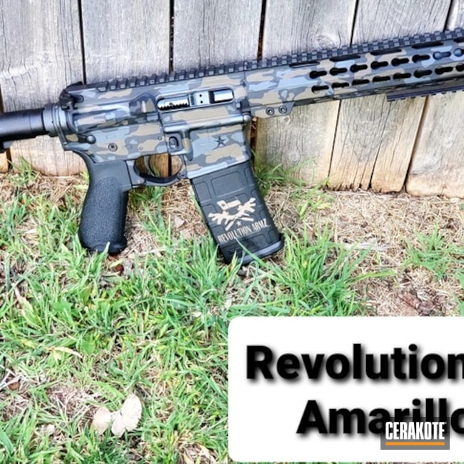 Cerakoted 5.56 Multicam Rifle Build In H-267, H-146 And C-239