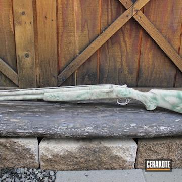 Cerakoted Custom 12 Gauge Shotgun In H-200, H-199 And H-226