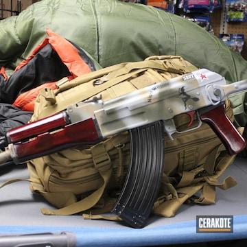Cerakoted Custom Ak Rifle In H-146, H-297, H-226, H-236 And H-216