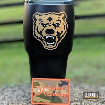 Cerakoted Custom Tumbler Cups In C-102