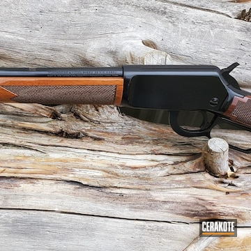 Cerakoted Winchester Lever Action Rifle In H-109