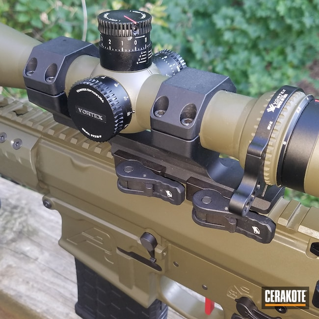 Cerakoted: S.H.O.T,Aero Precision,Vortex,Scope,Aero Precision M5,Vortex Scope,Graphite Black H-146,AR-10,Tactical Rifle,O.D. Green H-236,Firearms,SMITH & WESSON® RED H-216