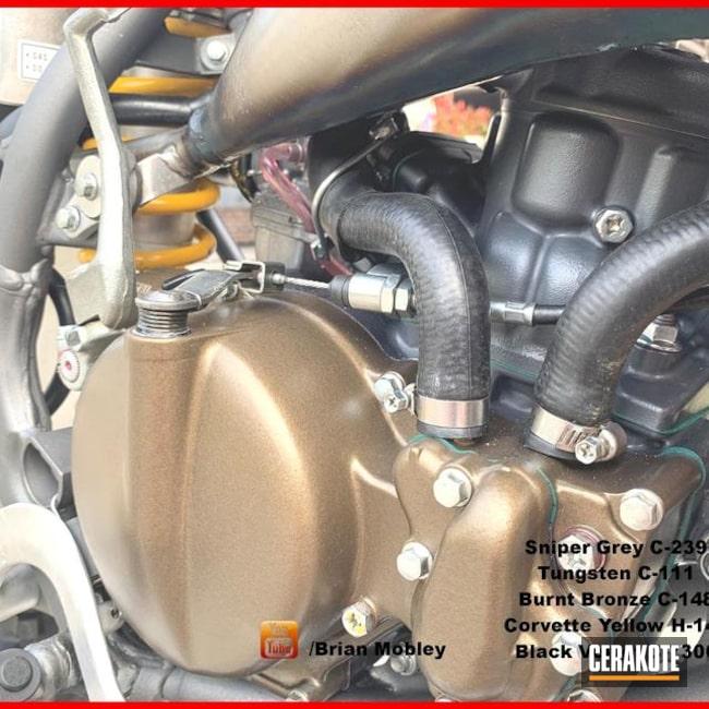 Cerakoted Honda Cr85 Dirt Bike Parts