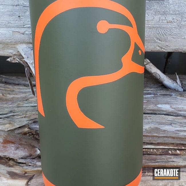 Cerakoted: Lifestyle,Mil Spec O.D. Green H-240,YETI,More Than Guns,Hunter Orange H-128,Custom Tumbler Cup,Tumbler
