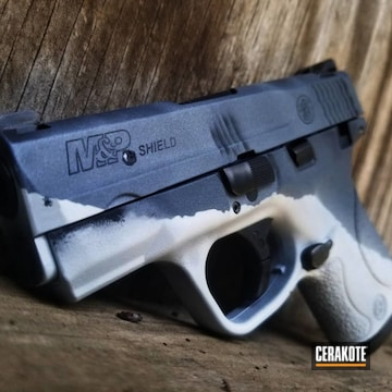 Cerakoted Shark Themed Smith & Wesson M&p Handgun
