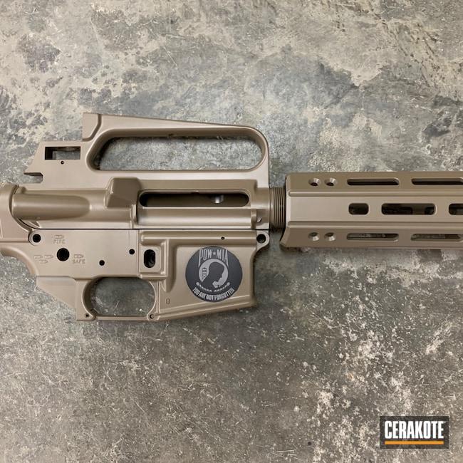 Cerakoted: S.H.O.T,AR15 Handrail,FDE E-200,Tactical Rifle,.223,5.56,AR-15,AR15 Lower