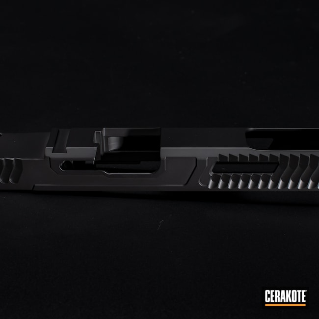 Cerakoted: S.H.O.T,Graphite Black H-146,Firearm,Pistol,Glock,Slide,Slide Milling