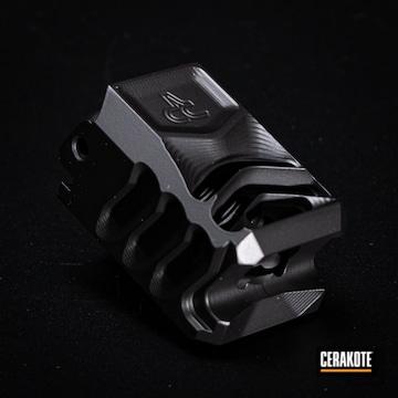 Cerakoted Glock Compensator In H-146