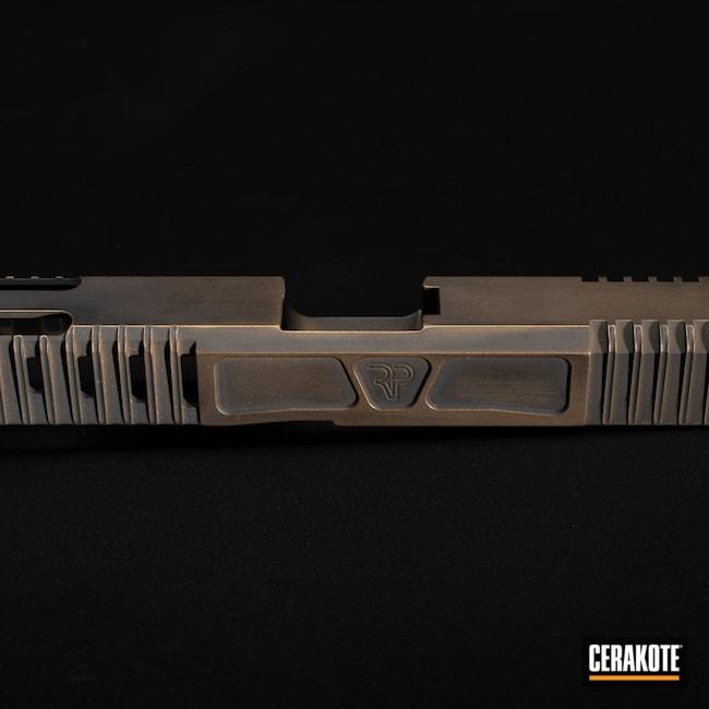 Cerakoted: S.H.O.T,Graphite Black H-146,Firearm,Burnt Bronze H-148,Glock,Slide,Slide Milling