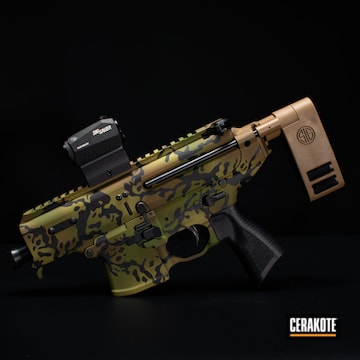 Cerakoted Sig Sauer Mpx Multicam In H-343, H-340, H-8000 And H-146