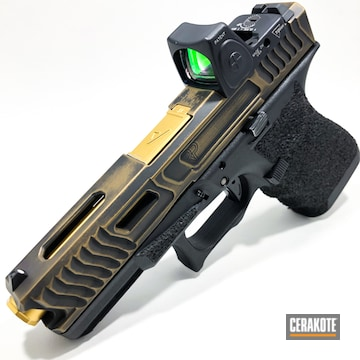Cerakoted Custom Glock 9mm In H-146 And H-148