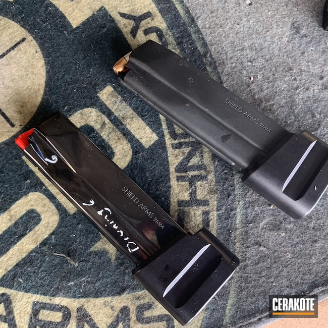 Cerakoted: S.H.O.T,9mm,MICRO SLICK DRY FILM LUBRICANT COATING (Oven Cure) P-109,Shield Arms S15 Magazine,Shield Arms,9mm Luger,S15,Glock 48 Magazine