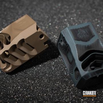Cerakoted Glock Compensators In H-402, H-267 And H-146