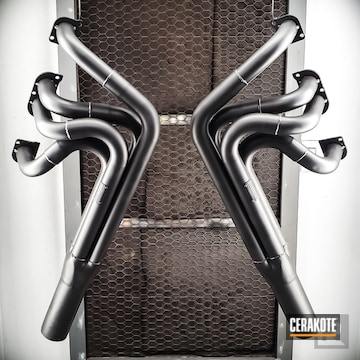 Cerakoted Custom Race Car Headers In C-7600