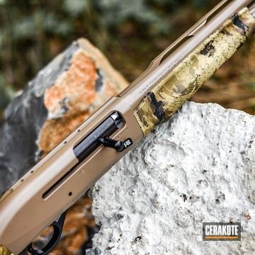 Cerakoted Benelli M2 Shotgun In H-235