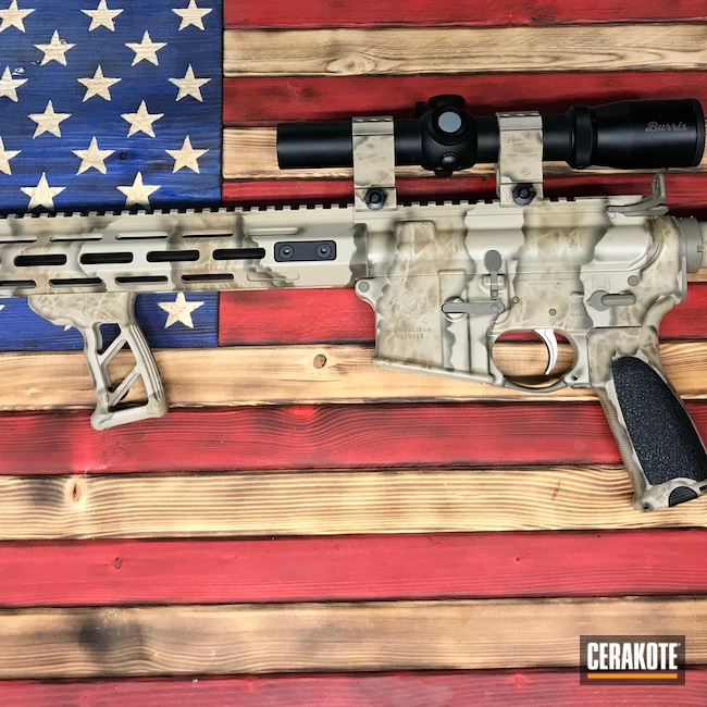 Cerakoted: S.H.O.T,Rifle,TROY® COYOTE TAN H-268,Tactical Rifle,Custom Camo,5.56,Desert Sand C-211,Saint,Patriot Brown C-226,Graphite Black H-146,Desert Sand H-199,Patriot Brown H-226,Springfield Armory,Freehand