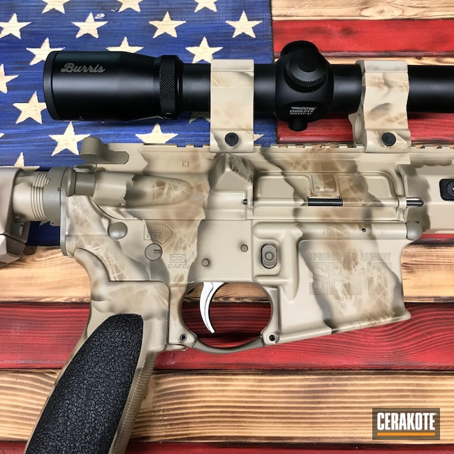 Cerakoted: S.H.O.T,Rifle,TROY® COYOTE TAN H-268,Tactical Rifle,Custom Camo,5.56,Desert Sand C-211,Saint,Patriot Brown C-226,Graphite Black H-146,Desert Sand H-199,Patriot Brown H-226,Springfield Armory,Freehand