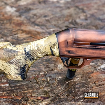 Cerakoted Benelli Super Black Eagle Ii Shotgun In H-310 And H-190