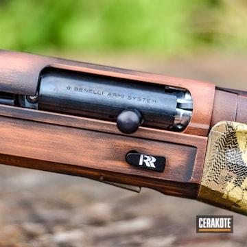 Cerakoted Benelli Super Black Eagle Ii Shotgun In H-310 And H-190