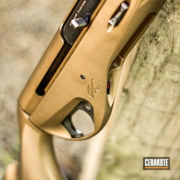 Cerakoted Benelli Vinci Shotgun In H-148