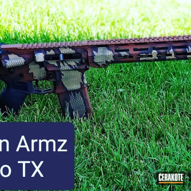 Cerakoted: S.H.O.T,Aero Precision,Coyote Tan H-235,Aero Precision M4EA1,m4e1,Riptile Camo,AR 5.56,Armor Black H-190,Tactical Rifle,MULTICAM® DARK BROWN H-342,O.D. Green H-236