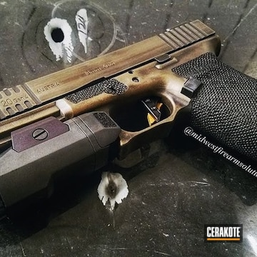 Cerakoted 10mm Glock 17 In H-146 And H-148