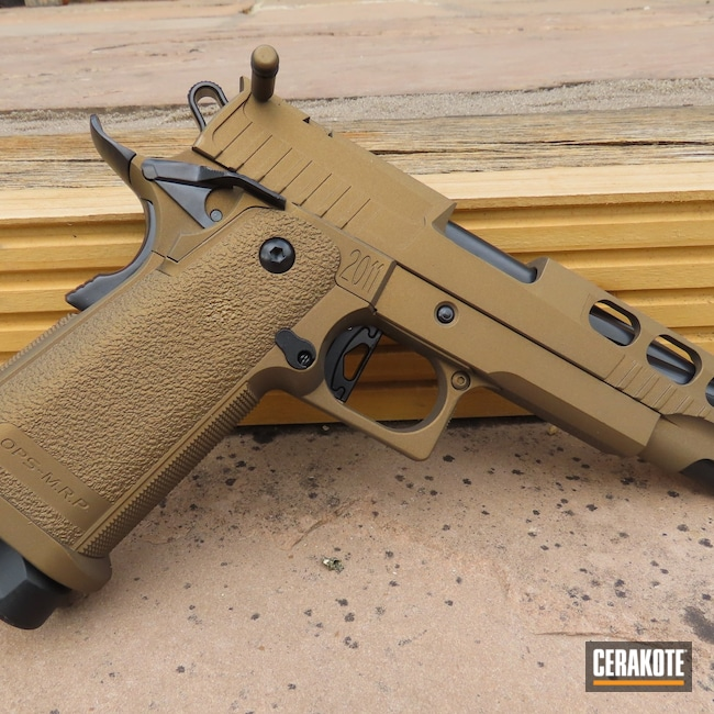Cerakoted: S.H.O.T,BLACKOUT E-100,Airsoft,Burnt Bronze H-148,Pistol,1911