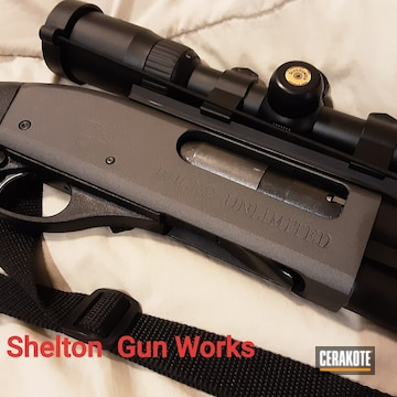 Cerakoted 12 Gauge Shotgun In H-237