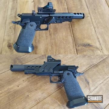 Cerakoted Custom 2011 Handgun In E-110 And H-234