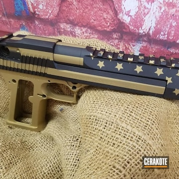 Cerakoted Stars And Stripes Themed Desert Eagle In H-146 And H-122