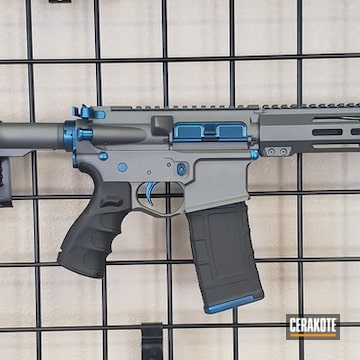 Cerakoted Two Toned Ar Pistol In H-171 And H-227