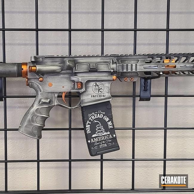 Cerakoted Custom Ar Pistol In H-146 And H-157