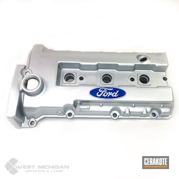 Cerakoted Ford Cam Cover In C-7700