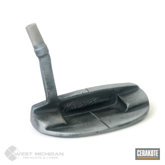 Cerakoted: Putter,Stone Grey H-262,Golf Putter,Lifestyle,Golf,Sports,Sports Equipment,More Than Guns,Golf Clubs