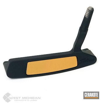 Cerakoted Two Toned Golf Putter In H-190 And H-122