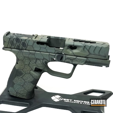Cerakoted Multicam Kryptek Handgun In H-344, H-339 And H-345