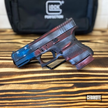 Cerakoted American Flag Themed Glock 26 9mm