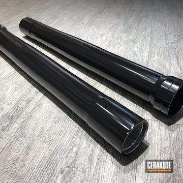 Cerakoted Refinished Motorcycle Forks In H-109