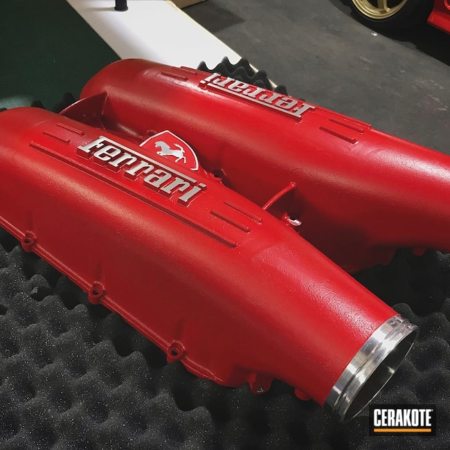 Cerakoted: Ferrari,Air Intake,More Than Guns,Automotive,STOPLIGHT RED C-143