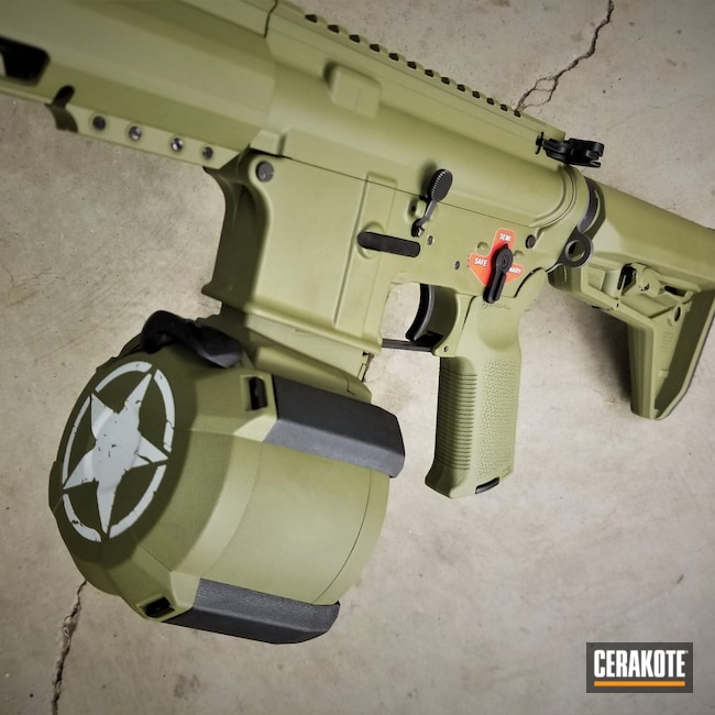 Cerakoted: S.H.O.T,Franklin Armory,Tactical Rifle,Noveske Bazooka Green H-189