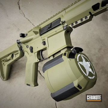 Cerakoted Custom Tactical Rifle In H-189